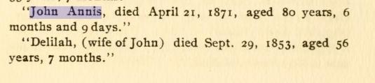 John Annis died