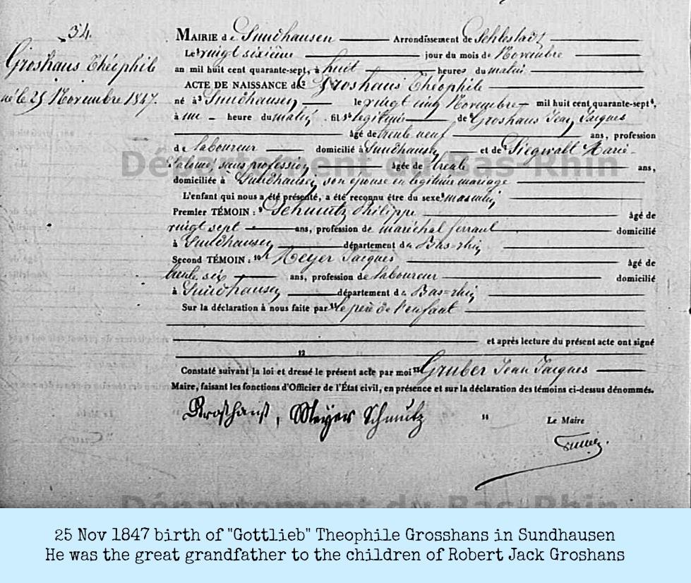 1847GROSSHANS Gottlieb 1847