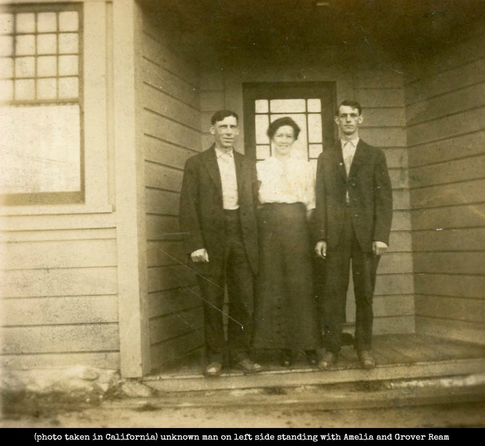 Amelia and Grover ream with unknown man in California