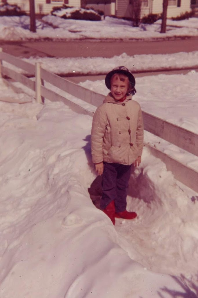 Linda Claire by snow tunnel at Harbrooke
