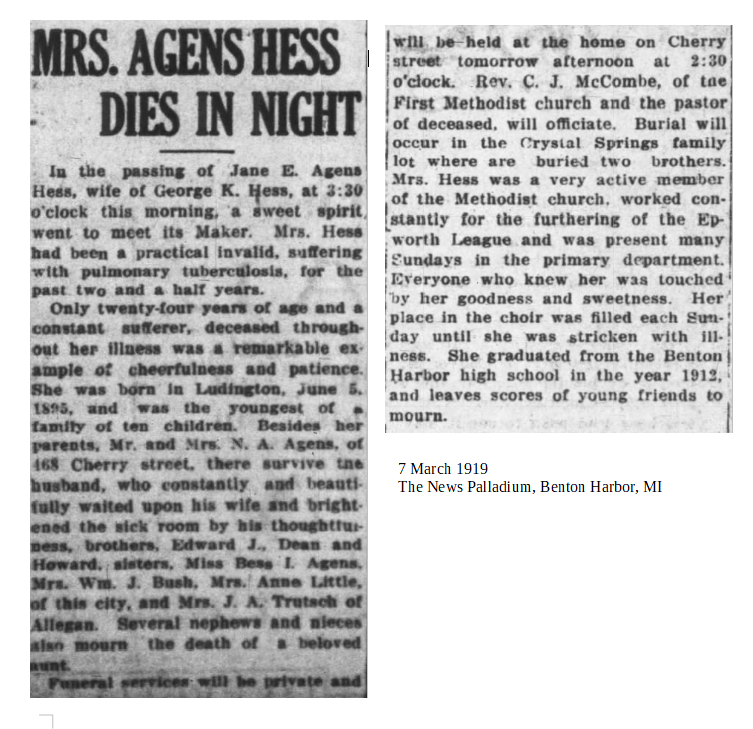 Jane Agens Hess