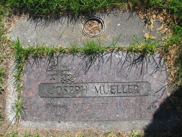 Joseph Mueller tombstone