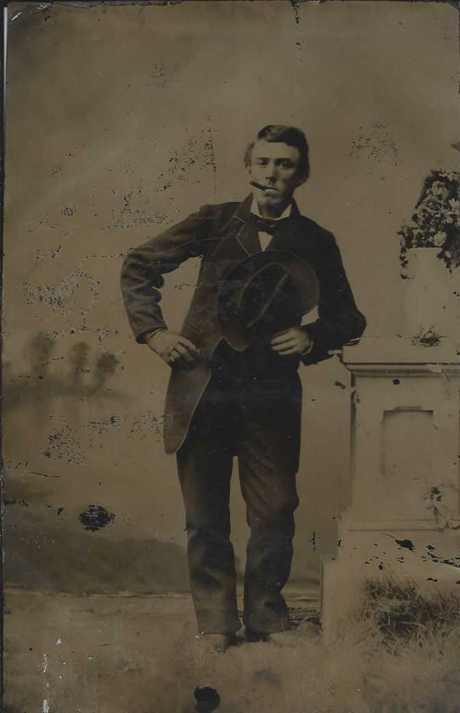 Tintype photo of Alexander Irwin Barton